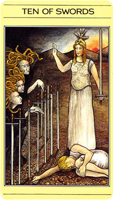 Ten of Swords -- mythic tarot