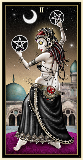 Deviant Moon Tarot -- 2 of Pentacles
