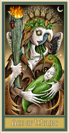Ace of Wands  - Deviant Moon