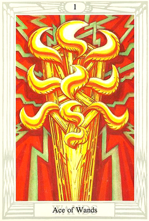 Ace of Wands - Thoth