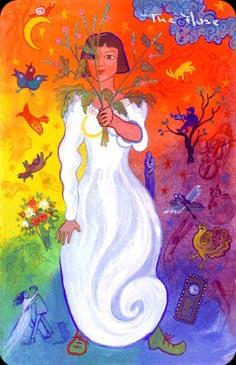 The Muse -- Wild Green Chagallian Tarot