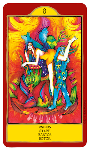 Eight of Wands -- Gypsy Palace tarot