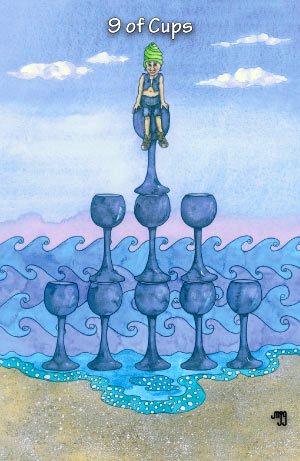 Hezicos Tarot -- 9 of Cups