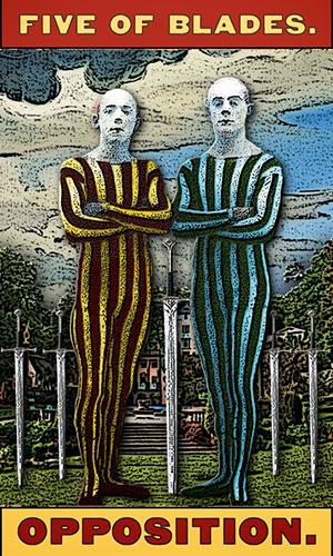 Tarot of the Zirkus Mägi -- 5 of Blades