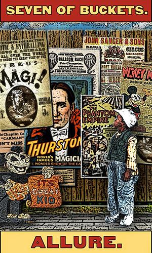 Tarot of the Zirkus Mägi -- 7 of Buckets