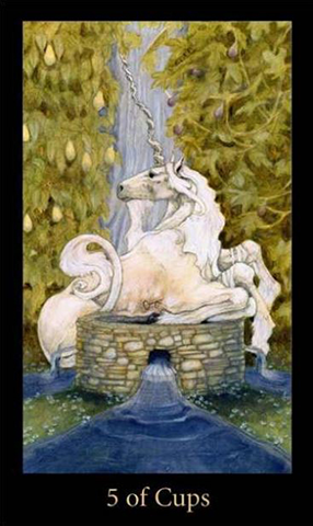 Five of Cups - Mary-el