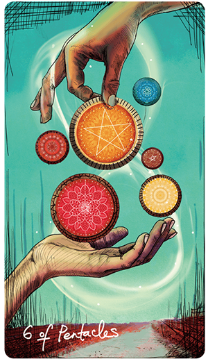 Lightseer's Six of Pentacles -- January 2020 Tarot Scopes