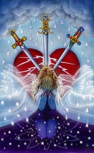 Resultado de imagem para 3 of swords tarot