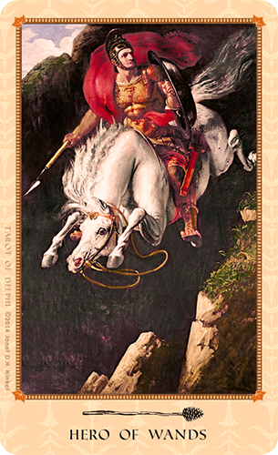 Tarot of Delphi -- Hero of Wands