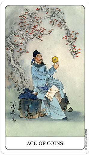 Chinese Tarot Ace of Coins