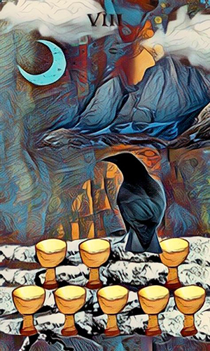 Crow Tarot Eight of Cups
