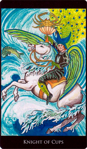 Image result for rosetta tarot knight of cups