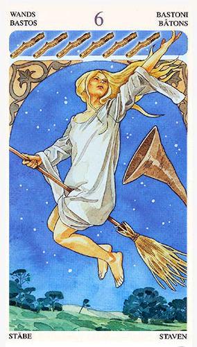 sorcerers tarot 6 of wands